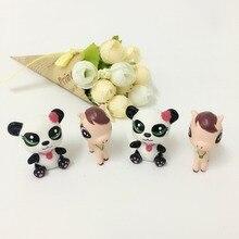 20 Pz/lotto cartoon horse e panda giocattolo 4 cm, molti tipi colecionaveis, I Miei piccoli giocattoli per i bambini