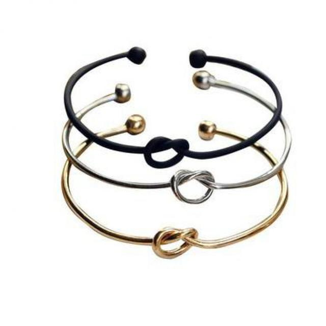 2017 New Simple Minimalist Simple Bracelet Personality Open Knotted Bracelet Jew