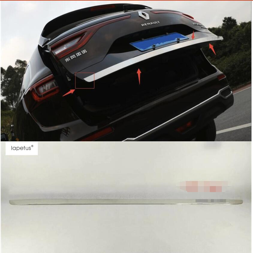 Lapetus Accessories For Renault Koleos 2017 2018 Rear Behind Trunk Tailgate Door Tail Bottom Lid Streamer Molding Cover Kit Trim цена