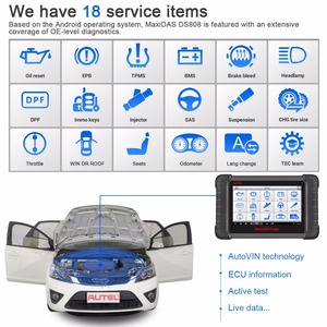 Image 2 - Autel Maxidas DS808K OBD2 Scanner Car Diagnostic Tool Functions Of EPB/DPF/SAS/TMPS Better Than Launch X431 Scanner Automotivo