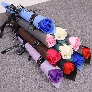 Image 2 - 30/50 шт розы мыло цветы креативные Романтические свадебные сувениры с цветочным узором для Дня Святого Валентина, подарок на день матери компании активности