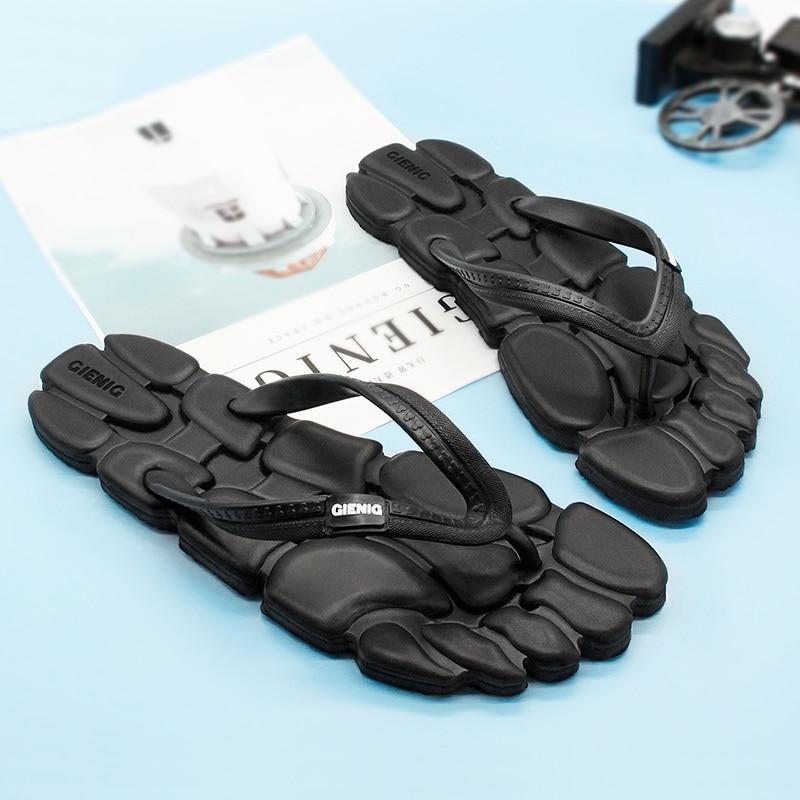 GieniG 2018 Ayaq kişi açıq istirahət moda flip-flops anti-slip - Kişi ayaqqabıları - Fotoqrafiya 1