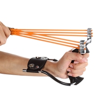 Compact Powerful Aluminium Alloy Slingshot Wrist Slingshots Crossbow Hunting Sling Shot Catapult Tactical Bow Outdoor Travel Kit