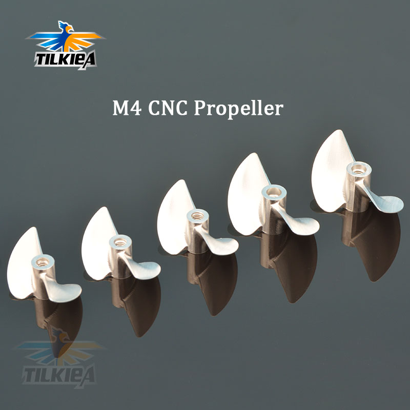 Rc Boat 2 Blades M4 Propeller M4 Propeller Alloy M4 Screw M430/32/33/34/35/36/37/38/39/40/41/42/43/44/45 For M4 Rc Boat Shaft