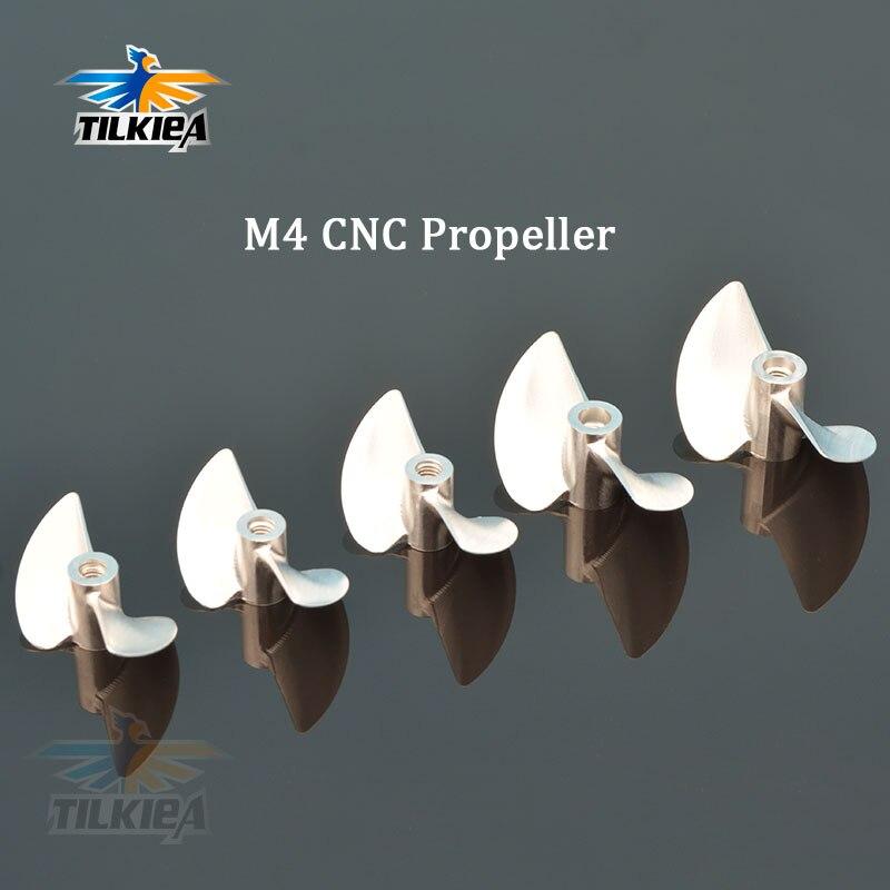 CNC Copper Propeller D40//42//45mm 2 Bladed 4.76mm Shaft Prop Screw RC Boat New
