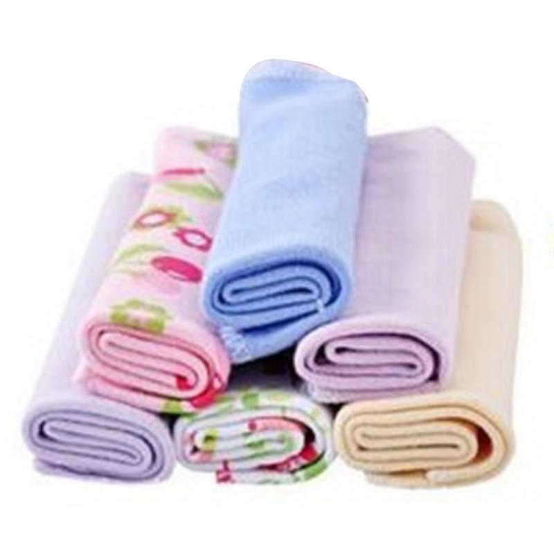 High Quality 8pcs/lot Single Small Square Soft Cute Baby Towel Handkerchief for Infant Kid Feeding Bathing Face Washing