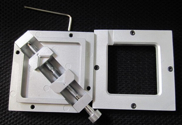 80*80mm Stencils Template holder jig, HT-80 silver BGA reballing station