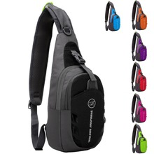 Unisex Waterproof Nylon Sling Chest Bag Back Travel Climb Cross Body Messenger Shoulder Pack Chest Bags Men Women Couple Bags men travel chest pack single rucksack england chest bags shoulder cross body bag external usb charge backpack women bag pack