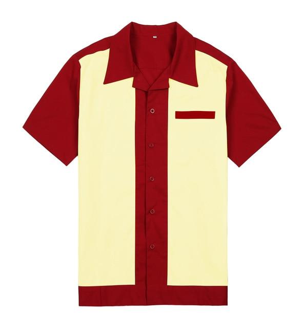 fbfa8875 wholesale online mens casual hawaiian shirts short sleeves cotton vintage  work shirt button up woven shirts rockabilly shirt