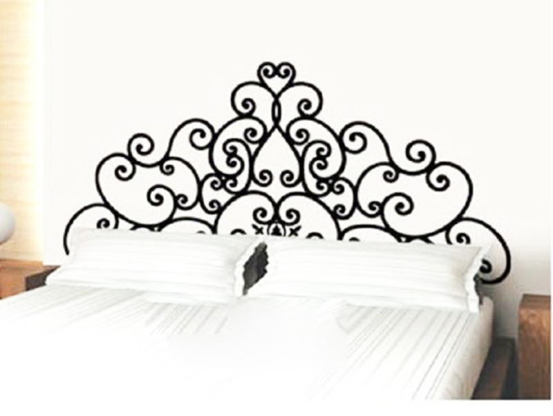New Hot Sale_ Modern Fashion headboard bedroom Art Vinyl wall sticker decal decor quote lettering home room kitchen decoration in Wall Stickers from Home Garden