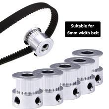 GT2 20 зубов 16 зубов 20 зубов диаметр 5 мм/8 мм ГРМ Алюминиевый шкив подходит для GT2-6mm открытый ремень ГРМ для 3d принтера