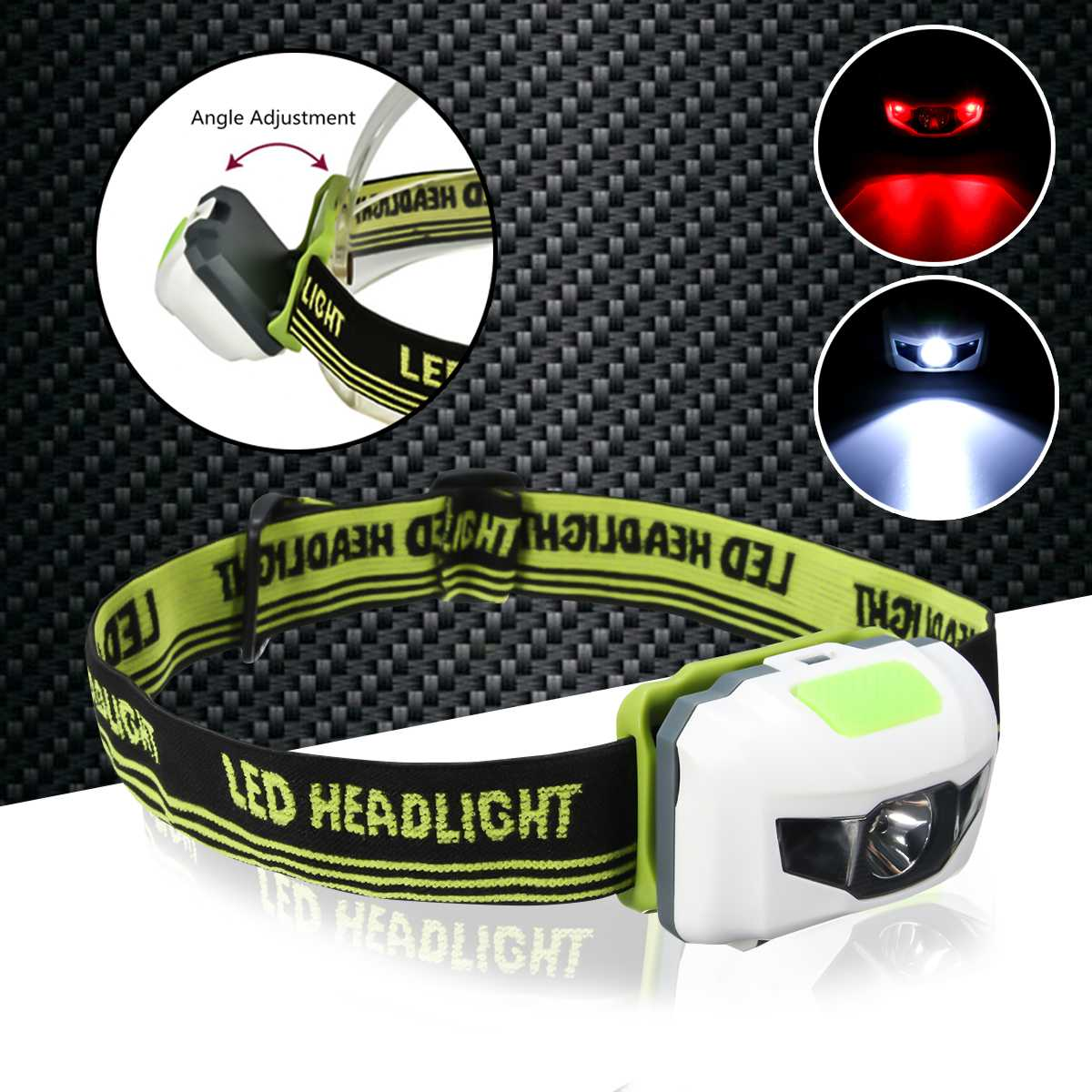 <font><b>10000lm</b></font> LED Smuxi headlamp 2*t6 headlight 3 modes head light waterproof flashlight zoomable use 18650 for hunting cycling image