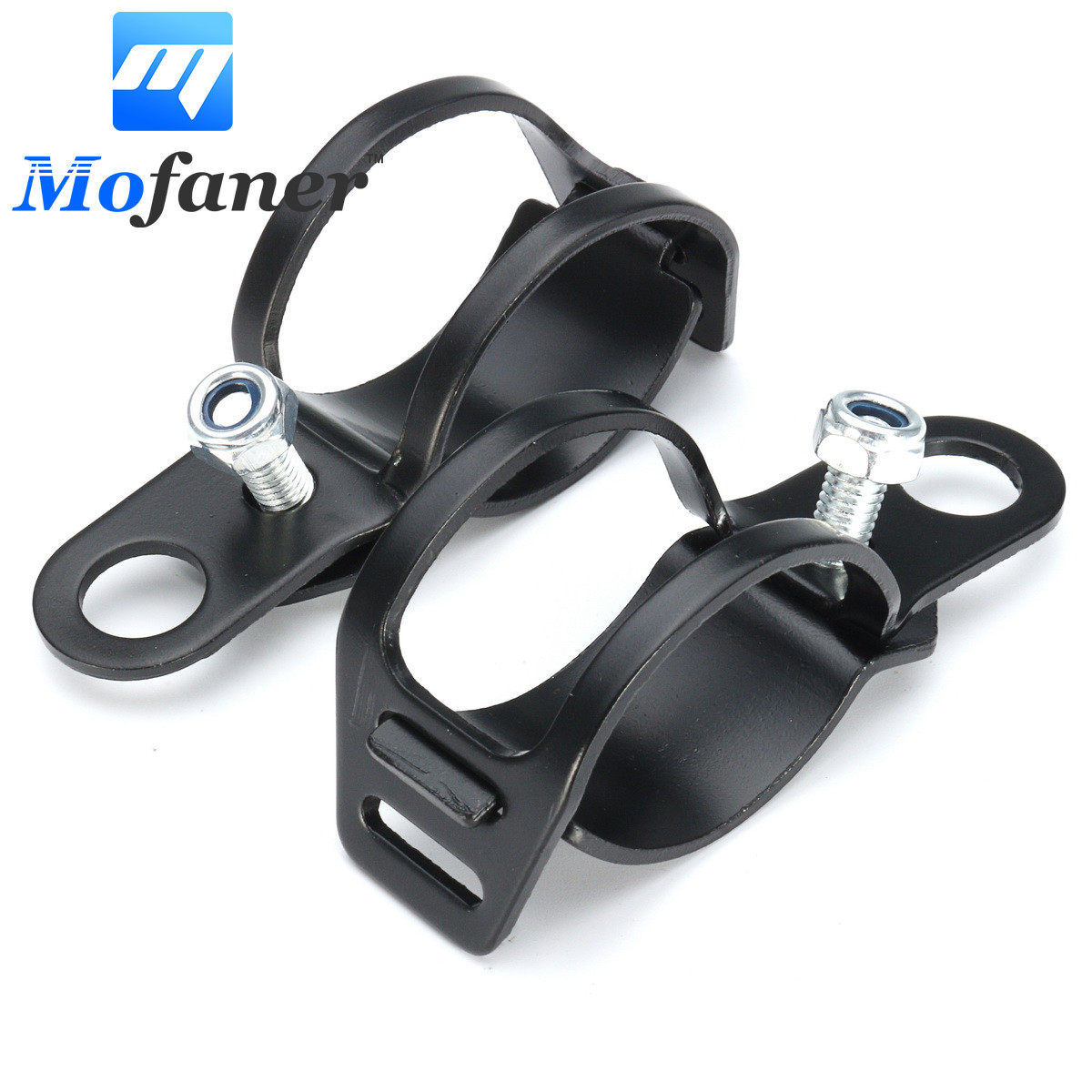 Motorcycle Headlight Bracket Black Front Rear Steel Turn Signal Holder Fork Clamps Shock Bracket Cafe Racer купить недорого в Москве