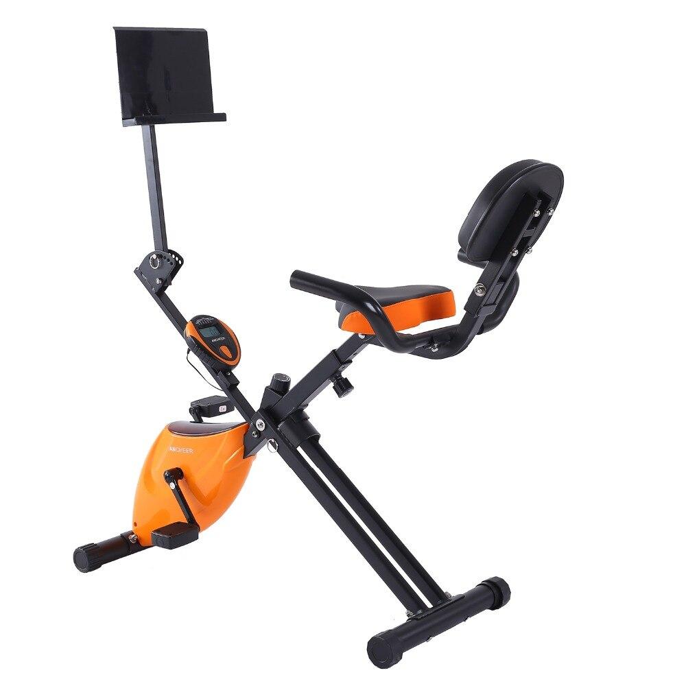 Ancheer Folding Adjustable Magnetic Upright Exercise Bike ...