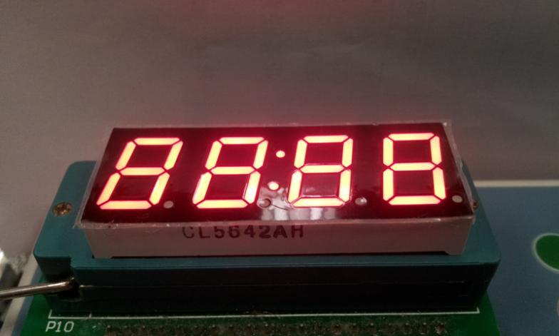 0.56 дюймов для часов, 7-сегментный красный светодиодный дисплей цифровой трубки высокого качества 4 цифры светодиодный модуль