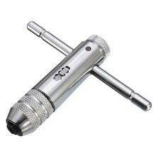 Т-образная ручка, трещотка, M3-M8, M5-M12, удлиненная, реверсивная для крана, набор штампов, краны, гаечные ключи, проводной гаечный ключ, регулируемый держатель, инструмент
