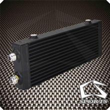 Oil-Cooler Universal Plate And Core:14--X5.5-Medium-Bar Dual-Pass Black/silver X1.58-1PCS