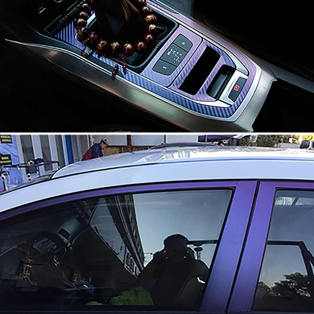10*100cm camaleón 3D fibra de carbono película de vinilo Wrap Foil Auto coche camión decoración del cuerpo calcomanía de estilo de coche de motocicleta