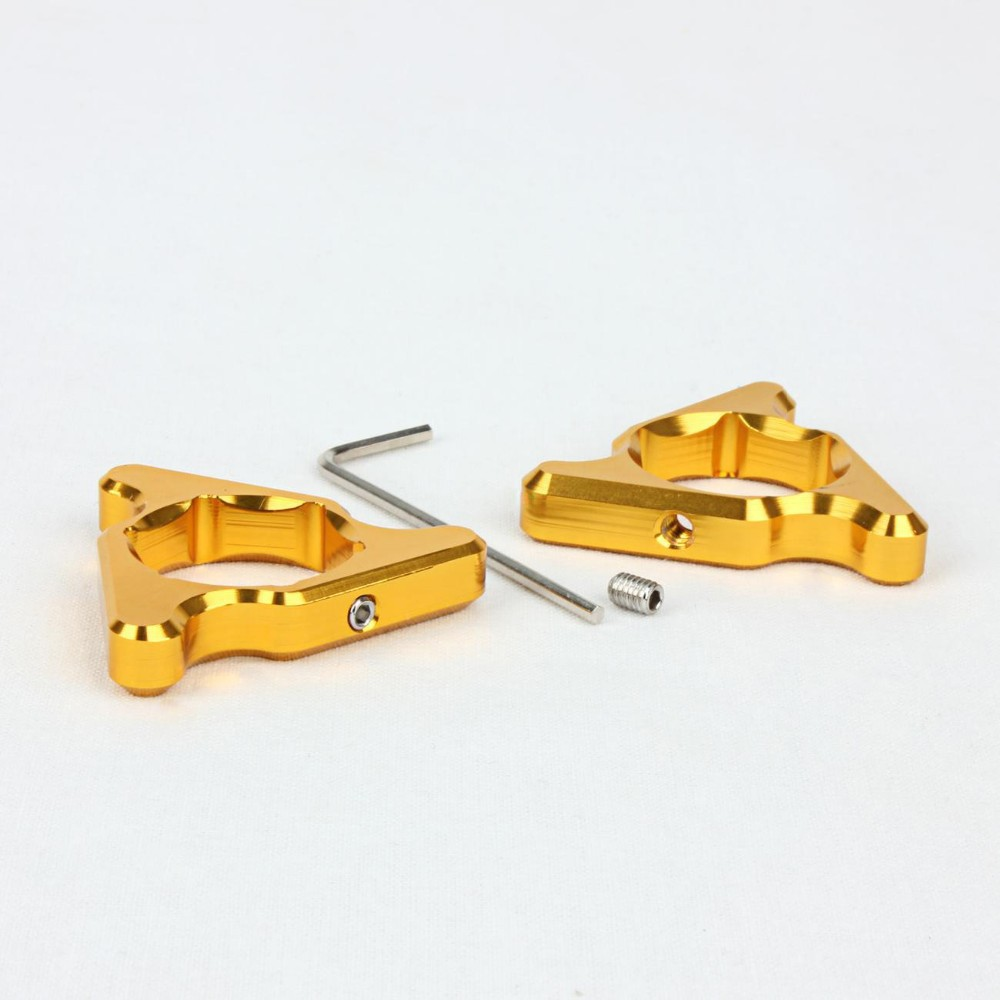 Motorcycle Gold Fork 22mm Preload Adjusters for Suzuki GSXR600 <font><b>GSXR</b></font> <font><b>600</b></font> <font><b>2004</b></font> 2005 GSXR750 <font><b>GSXR</b></font> 750 1992 - 2005 image