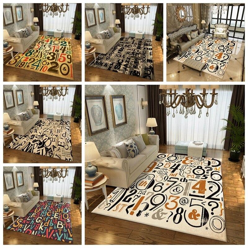 Numéros créatifs tapis tapis Style nordique salon chambre canapé Table basse étude chevet mode imprimé tapis décoratifs