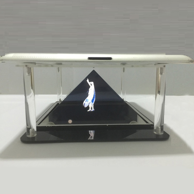 Holografisk Tablet PC 3D Holographic Projection Pyramid DIY för 7 till 10,1 tums Tablet PC iPad-telefon projektor