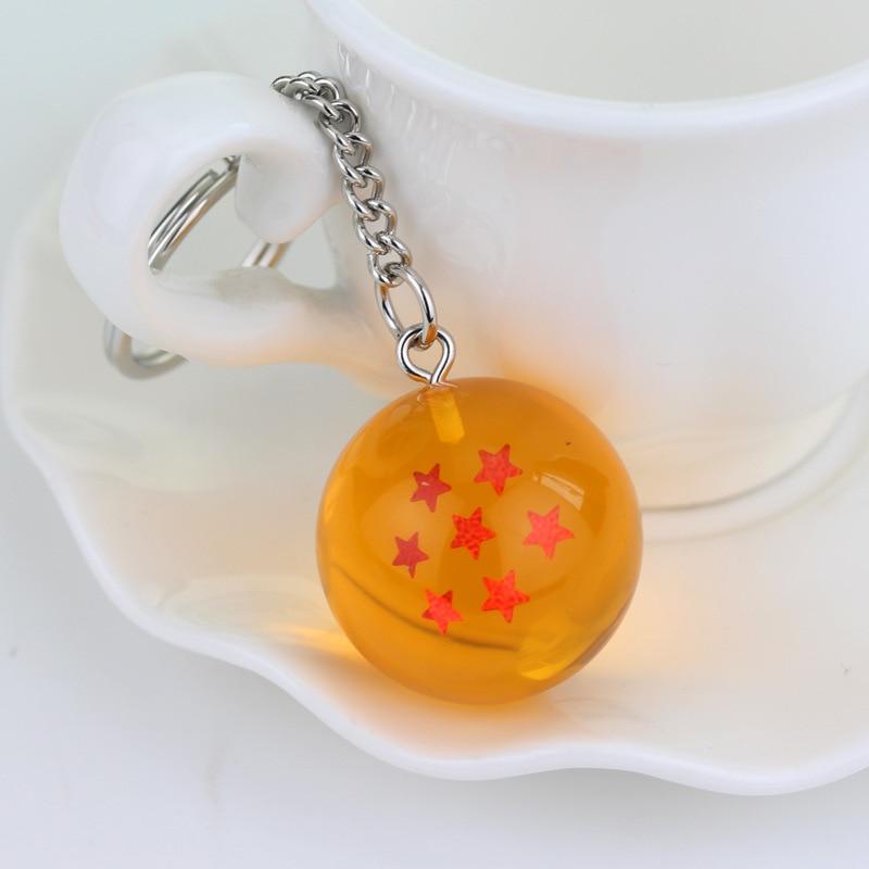 Мода Аниме Шарм Гоку Драконий жемчуг супер брелок 3D 1-7 звезд Косплей хрустальный шар брелок Коллекция игрушек подарок брелок - Цвет: style 7