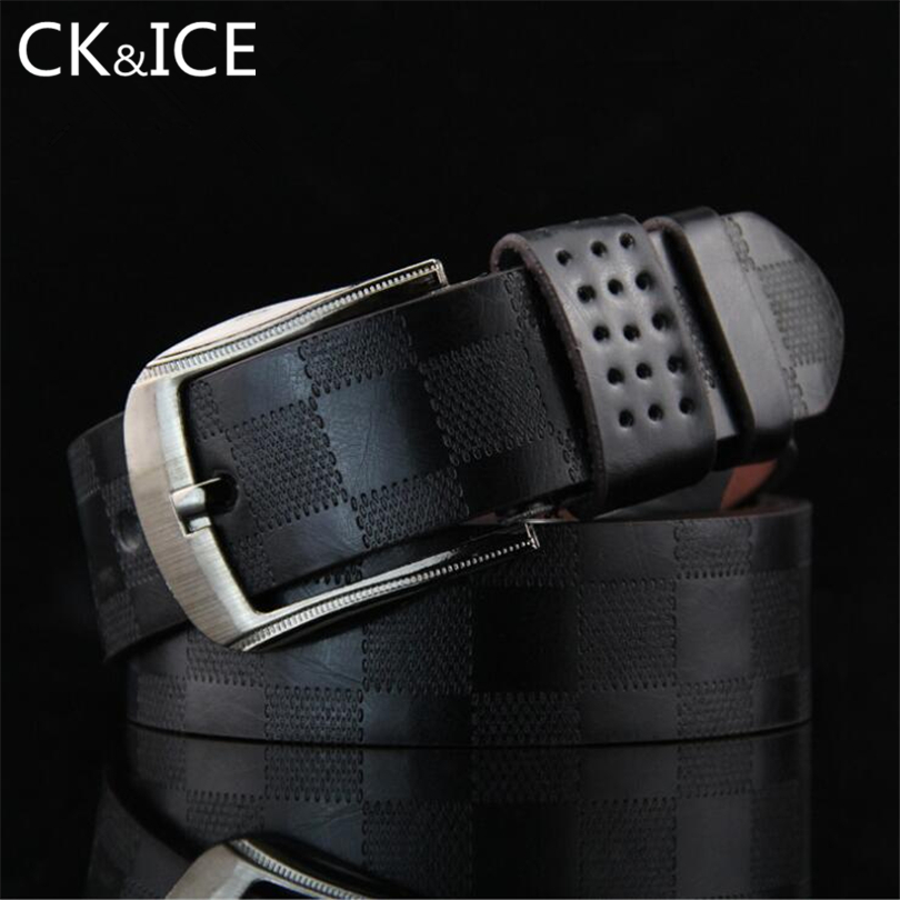 CK&ICE European Style Men Belt Famous Designer Luxury High Quality belt For Men Casual Pin Buckle Belt Straps For Jeans