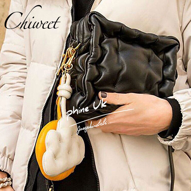 Designer Brand Chubby Cube Women Bags Pleated Simple Small Messenger Bags Luxury High Quality Soft Leather