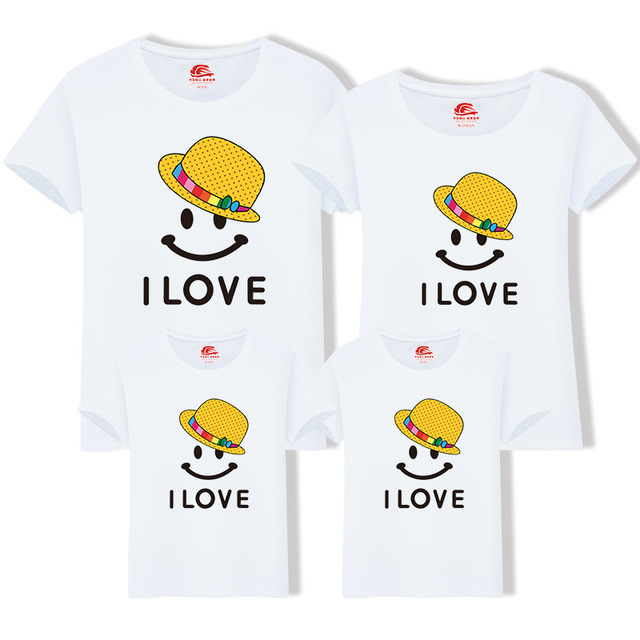 c62e3c595f7ef Mother Daughter Clothes Father Son Short Sleeve Cotton T-shirt Family  Matching Outfits Summer Cotton Tops One Piece H0300