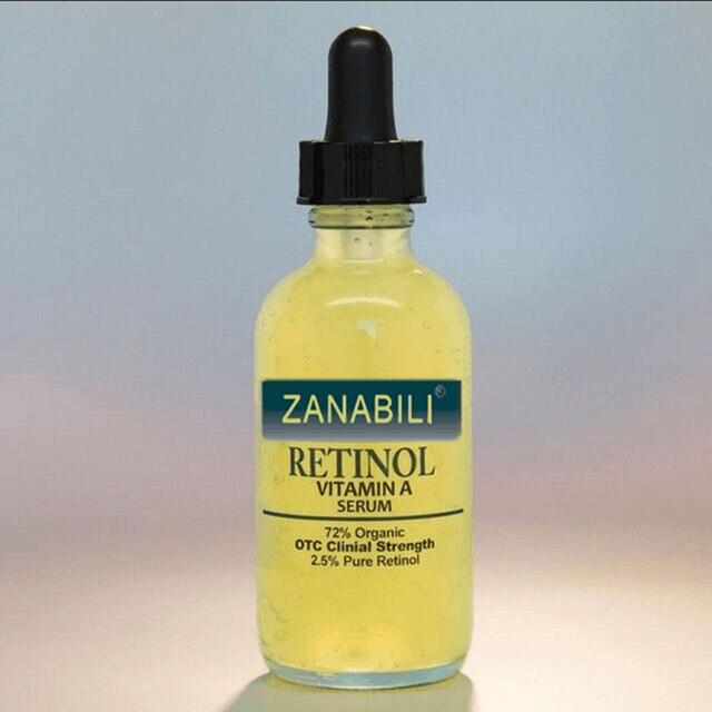 ZANABILI טהור רטינול ויטמין 2.5% + חומצה היאלורונית טיפוח עור אקנה קרם הסרת כתמי פנים סרום נגד קמטים קרם