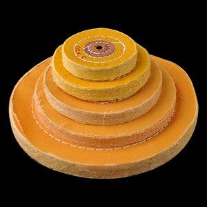 Image 2 - 1 Uds. De paño de pelusa de algodón de 4 12 pulgadas, rueda de pulido de espejo de joyería de oro y plata, Agujero interior de 12mm, 50 capas
