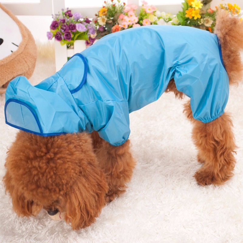 RFWCAK Pet Dog RainCoat Jacket Full Size Teddy Dog Raincoat Outdoor Walking Waterproof Rain Cover Water Protection Clothes