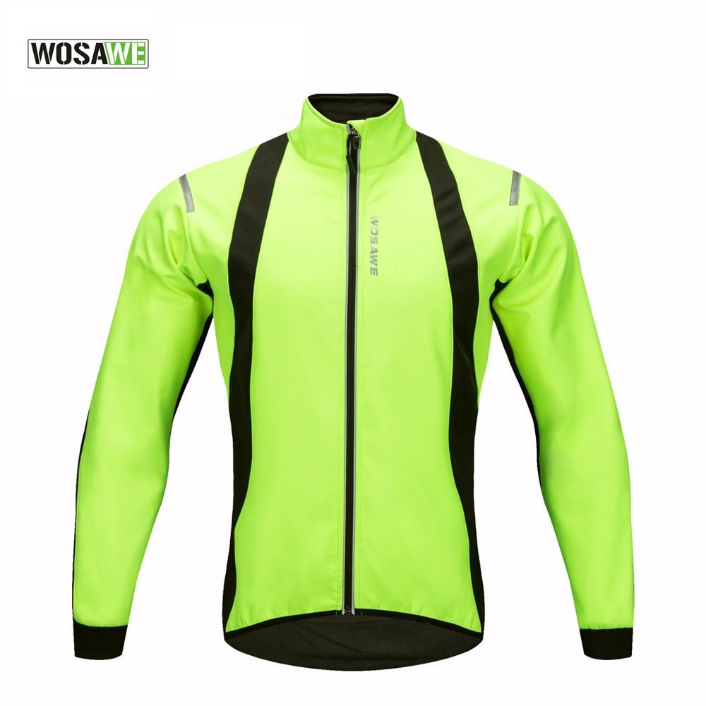 WOSAWE 2017 New Windproof Cycling Jackets Men Winter Warm Up Cycle Jackets Winter Thermal Windproof Cycling Jacket-in Cycling Jackets from Sports & Entertainment    1