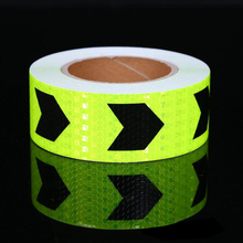 5cm width Fluorescent Yellow Car Cycling Reflective Stickers Adhesive Tape Accessories
