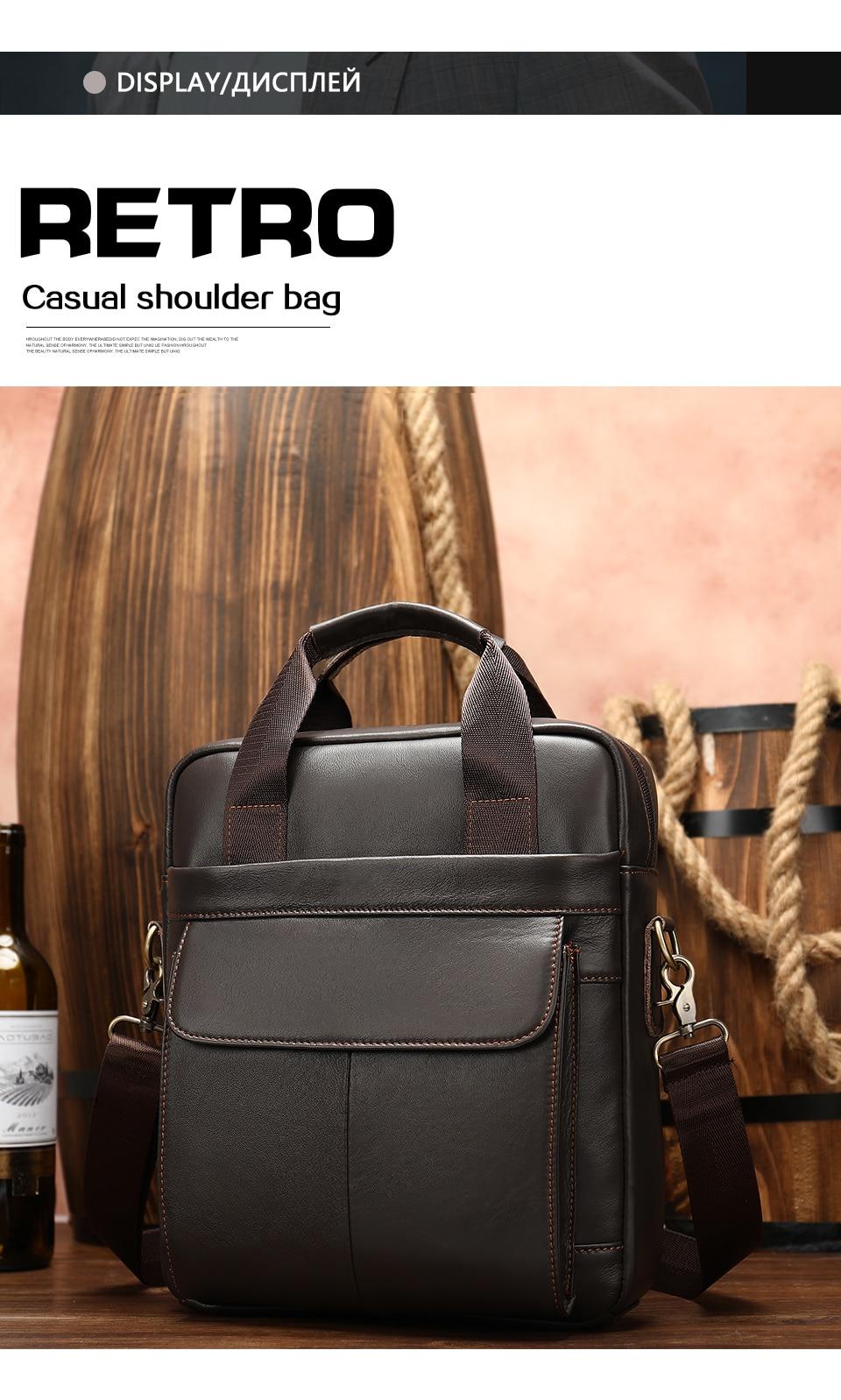 HTB1GZWYbRCw3KVjSZFlq6AJkFXae MVA genuine leather men's bag messenger bag men leather crossbody bags for men handbag business men's laptop/shoulder bag 8568