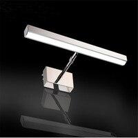7W 12W LED Mirror Lamp AC85 265V 39cm 49cm Waterproof SMD2835 High Quality Elastic Rotatable Light