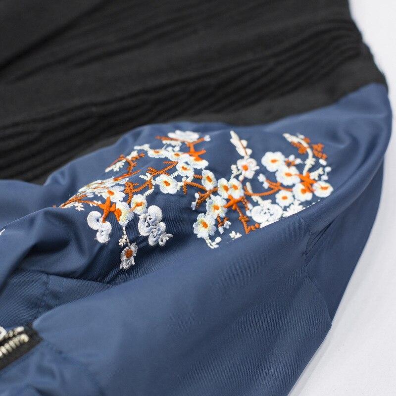 Zipper Manches Dneim À Broderie Point 2018 Hiver Bleu Femmes Mode J950 De Col Nouveau Black Automne Tricot Marée Oloey Longues Chandail V YFPwvqAw0