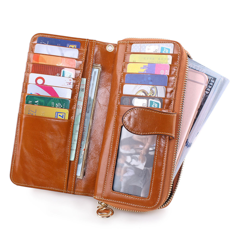 New Arrival Zipper Wallet  Lady Multifunctional  Cattlehide Purse Long Style Hasp Western Style Closure Huge Capacity Fashion Ha women agraffe wallet multifunctional zipper purse long style closure huge capacity fashion hand money bag more card slots for ph
