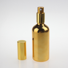 Round Shape Large Cosmetic Packaging Perfume Bottle 100ml, Mist Spray Bottle With Aluminum Pump aluminum bottle with compass