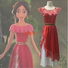 Por encargo de la princesa elena elena de avalor cosplay dress fancy dress adultos mujeres del vestido de bola party dress costume