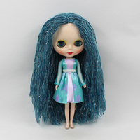 12 inch Mini Blyth nude doll b female bjd doll big eyes little witch doll special hair suit modified make up dolls for girls