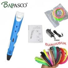100% Original BAPASCO 3D Pen Add free ABS/PCL Filament 3D DOODLE Pen For Kids Best Present 3D Drawing Pen lix for kids Free ship