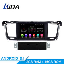 LJDA 1 Din Android 9,1 автомобиль радио для peugeot 508 2011-2014 2015 2016 2017 Автомобильный мультимедийный плеер стерео gps навигации автомобиля DVD ips