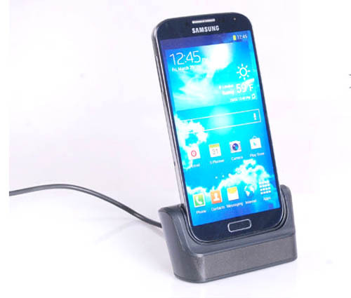 Destop Micro USB Dock Station Charger Data Sync Cradle Docking Stand for Samsung Galaxy S4 mini i9190