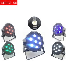 New Seller  7x12w led Par lights RGBW 4in1 flat par dmx512 disco professional stage dj equipment