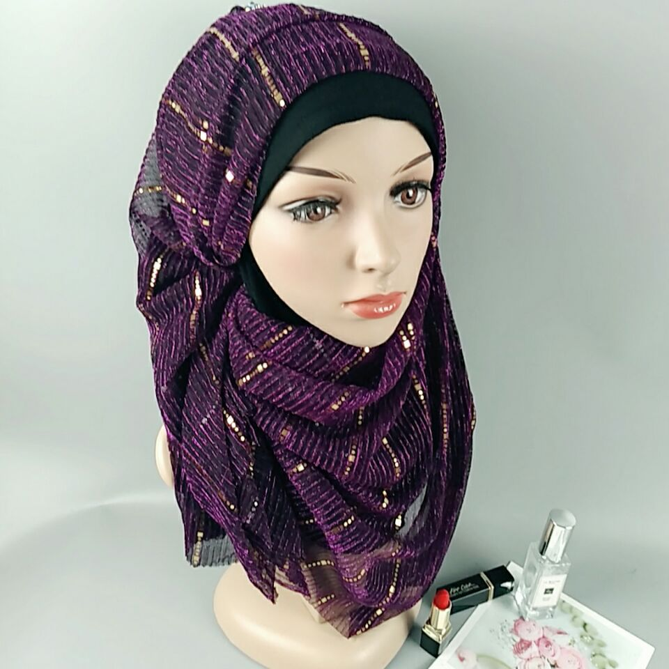 10 colors Muslim Hijab Womens Hijab Ninja Underscarf Head Islamic Cover Bonnet Hat Cap Scarf 200*70cm
