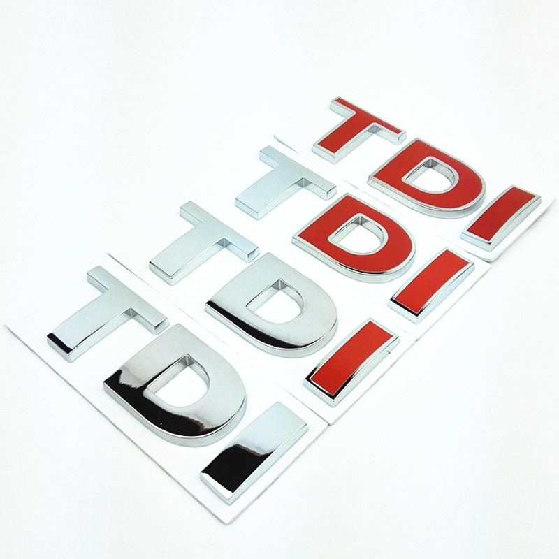 TDI GTI 3D metal Badge Emblem Decal Sticker Car styling for VW Volkswagen Skoda octavia POLO Golf 7 CC JETTA PASSAT MK4 MK5 MK6