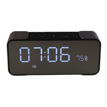BCMaster Wireless Rechargeable Bluetooth Stereo Speaker Support FM Radio Alarm Clock
