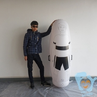 1.8m High Inflatable Football Training Dummy Soccer Dummy Goal Keeper Tumbler