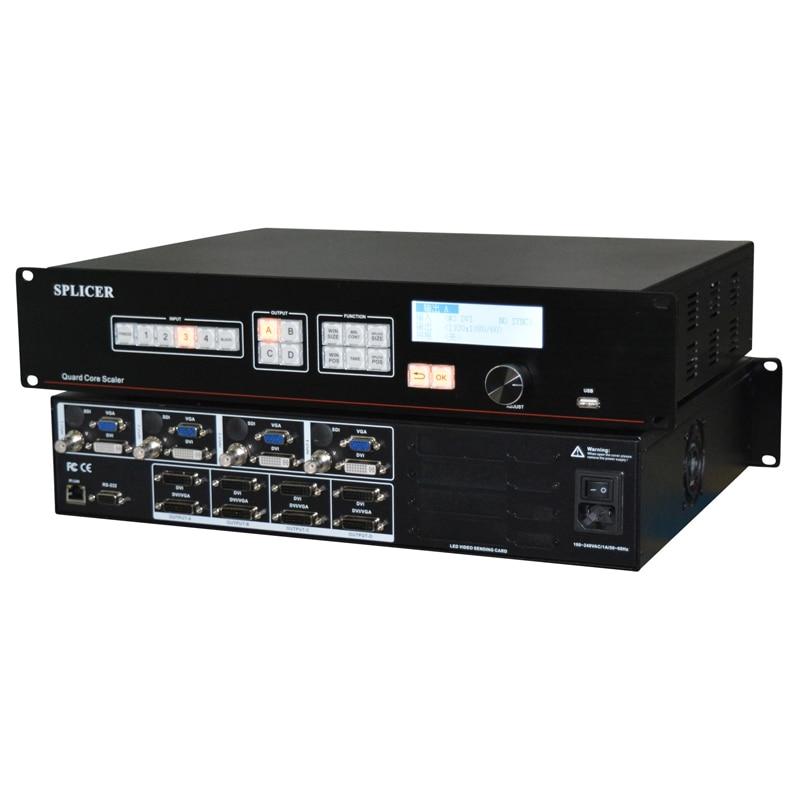 HD LED screen video processor AMS-SC368 Support 4 standard sending cards wavelets processor